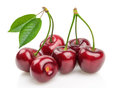Cherries isolated on white background Royalty Free Stock Photography