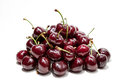 Cherries a lot of whit white blackground Royalty Free Stock Photography