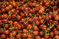 Cherries the sale of cherry in the supermarket Stock Photography