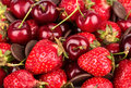 Cherries and strawberries Royalty Free Stock Photo