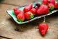 Cherries and strawberries Royalty Free Stock Photo
