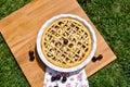 Cherries tart, homemade dessert Royalty Free Stock Photo