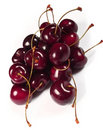 Cherries on white background Stock Photo