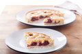 Cherry bakewell tart Fotos de Stock Royalty Free