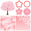 Cherry blossom background Stock Images