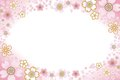 Cherry blossom frame illustration of Royalty Free Stock Photo