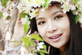 Cherry blossom girl Royalty Free Stock Photo