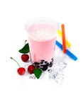 Cherry Boba Bubble Tea Royalty Free Stock Photos