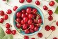 Cherry Bowl Full of Fresh Cherries Royalty Free Stock Photo
