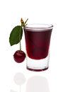 Cherry brandy Royalty Free Stock Photo