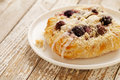 Cherry cheese danish pastry Stock Photo