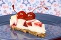 Cherry cheesecake Stock Photography