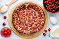 Cherry clafouti - traditional french sweet fruit dessert clafoutis