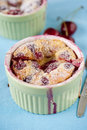 Cherry clafoutis Stock Photography