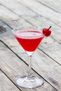 Cherry cocktail in martini glass Royalty Free Stock Photo