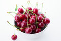 Cherry is in a cup Royalty Free Stock Image