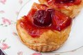 Cherry danish pastry freshly baked pastries Royalty Free Stock Photography