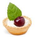 Cherry dessert Royalty Free Stock Photo