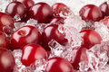 Cherry with ice food background Royalty Free Stock Photography