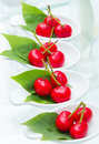 Cherry imitation fruit close up red color served in cocktail party Royalty Free Stock Image