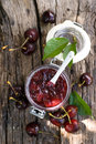 Cherry jam Royalty Free Stock Image