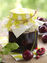 Cherry jam Stock Photos