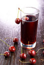 Cherry juice Royalty Free Stock Photos