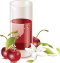Cherry juice Stock Photo