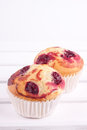 Cherry muffin Stock Photography