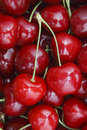 Cherry pair of close up Royalty Free Stock Photography