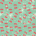 Cherry pattern Stock Photos