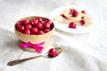 Cherry pie with frozen cherries Royalty Free Stock Photo