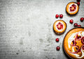 Cherry pie with sour cream Royalty Free Stock Photo