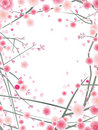 Cherry or plum blossom pattern Royalty Free Stock Photos