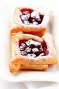Cherry puff pastry Stock Photography