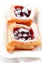 Cherry puff pastry