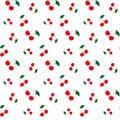 Cherry seamless pattern. Vector illustration.