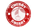 Cherry stamp Stock Image