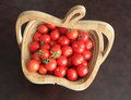 Cherry Tomato Basket Stock Photos