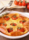 Cherry tomato quiche Stock Photos