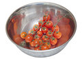 Cherry tomatoes in a bowl Stock Photography