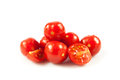 Cherry tomatoes fresh tomatoes on white background red tomato Royalty Free Stock Images