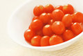 Cherry tomatoes in a white bowl Royalty Free Stock Photos