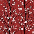 Cherry tree seamless pattern Royalty Free Stock Photo