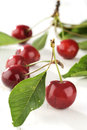 Cherry on a white table wooden Royalty Free Stock Image