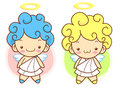 Cherub mascot flying to the sky angel character design series Stock Photography