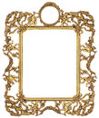 Cherub picture frame gold isolated on white Stock Photos