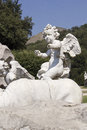 Cherub statue in the caserta park Royalty Free Stock Images