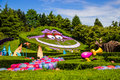 Cheshire cat at the Alice in Wonderland. Alice`s Curious Labyrinth. Disneyland Paris. Royalty Free Stock Photo