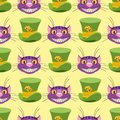 Cheshire cat and Hat. Seamless pattern can be used for wallpaper, pattern fills, web page background, surface textures